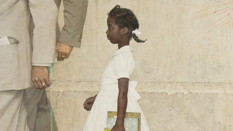 Norman rockwell painting ruby bridges