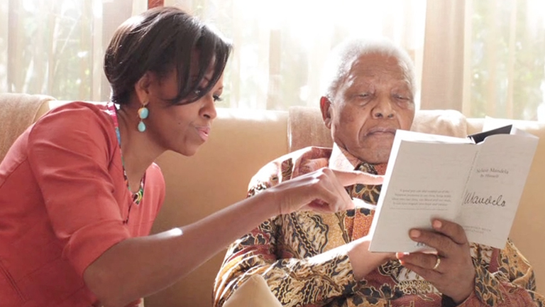 Nelson Mandela - Meeting with Michelle Obama