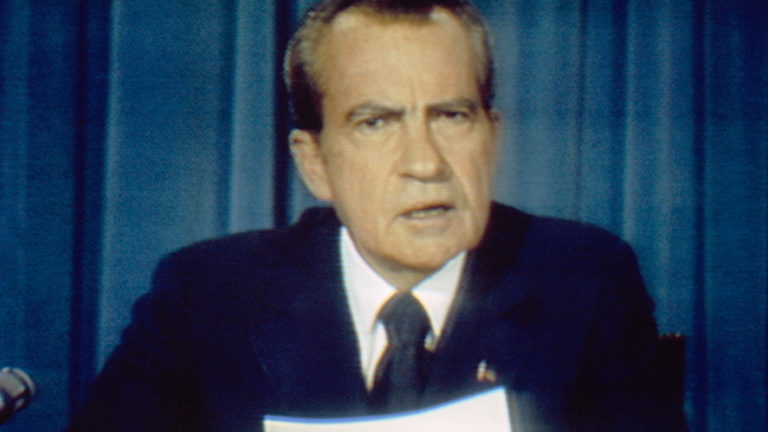 nixon and political rhetoric Full text and audio and video of richard nixon checkers speech.