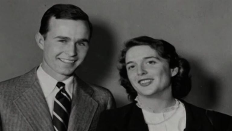 George And Barbara Bush Children Barbara bush - moving to texasBarbara Bush And George Bush Young