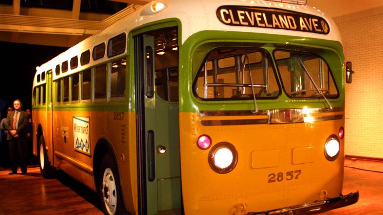 Montgomery bus boycott for Rosa parks bus coloring page